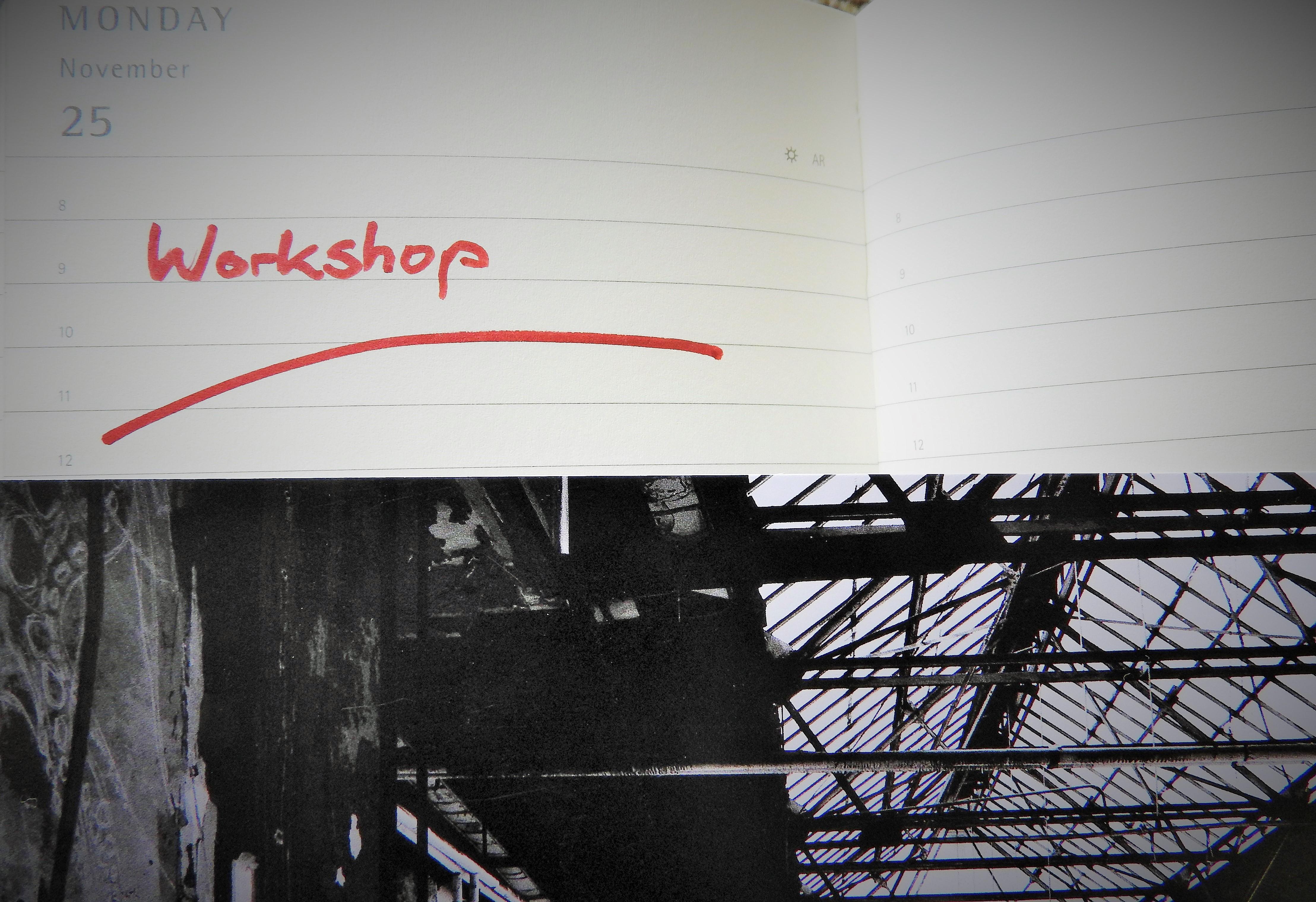 Ein Kalender mit dem Eintrag Workshop.